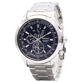 Link to Seiko Men's SPC125 'Neo Classic' GMT, Chronograph, Leap Year Indicator, Perpetual, Time Zone Stainless Steel Watch Similar Items in Men's Watches