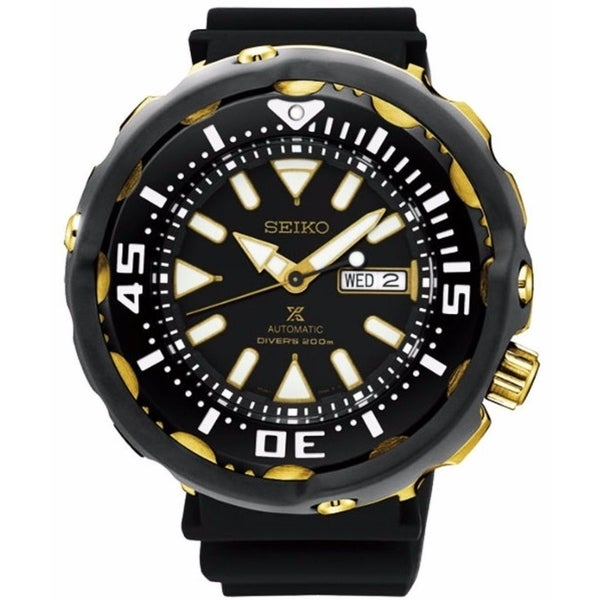 Seiko Men's SRPA82 'Prospex' Automatic Black Rubber Watch