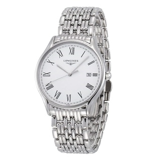 Link to Longines Men's L4.859.4.11.6 'Lyre' Stainless Steel Watch Similar Items in Women's Watches