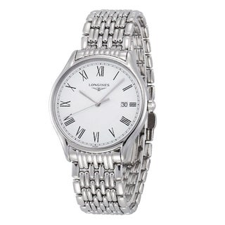 Link to Longines Men's L4.859.4.11.6 'Lyre' Stainless Steel Watch Similar Items in Men's Watches