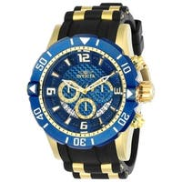 Invicta Men's 23704 'Pro Diver' Scuba Black and Gold-Tone Polyurethane and Stainless Steel Watch