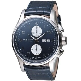 Hamilton Men's H32766643 'Jazzmaster Maestro' Automatic Blue Leather Watch
