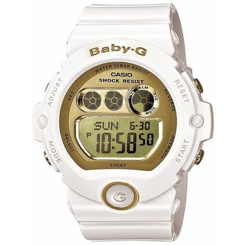 Casio Women's BG6901-7 'Baby G' Chronograph White Resin Watch