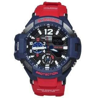 Casio Men's GA1100-2A 'G-Shock' Red Resin Watch