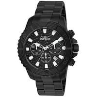 Invicta Men's 24005 'Pro Diver' Black Stainless Steel Watch