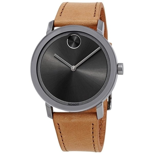 Bold Brown Leather Watch
