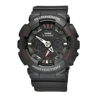 Casio Men's GA120-1A 'G-Shock' Chronograph Black Rubber Watch