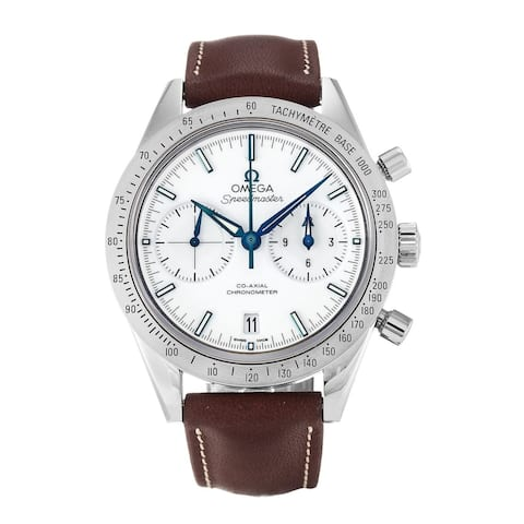 Omega Men's 331.92.42.51.04.001 'Speedmaster ' Chronometer Chronograph Automatic Brown Leather Watch