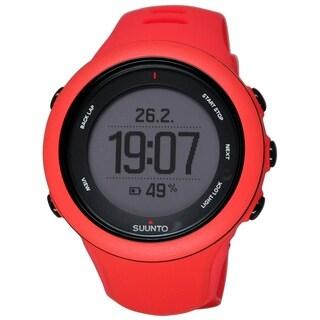 Suunto Men's SS021469000 'Ambit3' Digital Red Silicone Watch