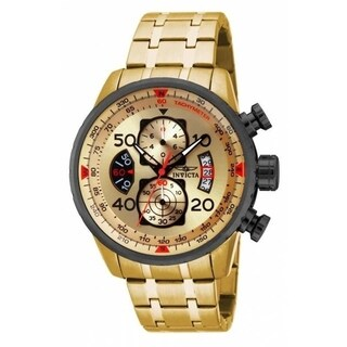 Invicta Men's 17205 'Aviator' Gold-Tone Stainless Steel Watch