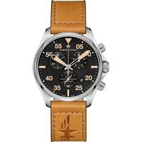 Hamilton Men's H76722531 'Khaki Pilot' Chronograph Brown Leather Watch