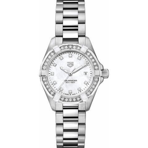 Tag Heuer Women's WBD1415.BA0741 'Aquaracer' Diamond Stainless Steel Watch