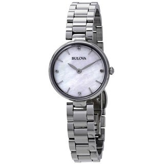 Bulova Women's 96P159 'Diamonds Collection' Diamond Stainless Steel Watch