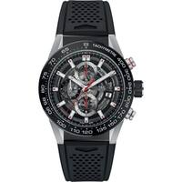 Tag Heuer Men's CAR201V.FT6046 'Carrera' Chronograph Automatic Black Rubber Watch