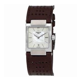 Tissot Women's T0903101611100 'T02' Brown Leather Watch