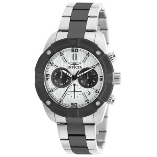 Invicta Men's 21471 'Specialty' Black and Silver Stainless Steel Watch