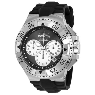 Invicta Men's 23039 'Excursion' Reserve Black Polyurethane Watch