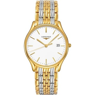 Link to Longines Men's L4.859.2.12.7 'Lyre' Two-Tone Stainless Steel Watch Similar Items in Men's Watches