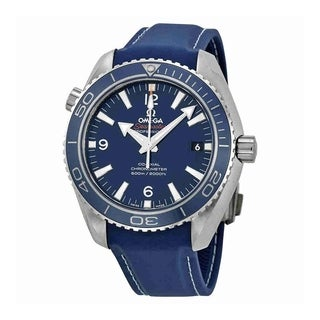 Omega Men's 232.92.42.21.03.001 'Seamaster Planet Ocean' Chronometer Automatic Blue Rubber Watch