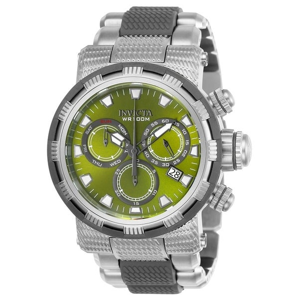 Invicta Men's 23989 'Specialty' Gunmetal and Silver Polyurethane and Stainless Steel Watch