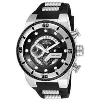 Invicta Men's 24221 'S1 Rally' Black and Silver Polyurethane and Stainless Steel Watch