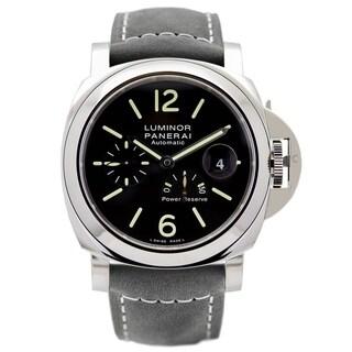 Panerai Men's PAM01090 'Luminor' Automatic Olive-Grey Leather Watch