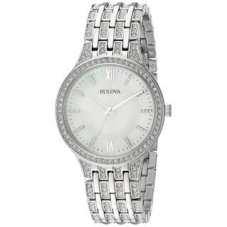 Bulova Women's 96L242 Swarovski Crystal Accented Bracelet Watch - Silver-Tone