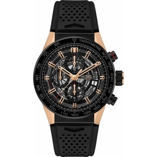 Link to Tag Heuer Men's CAR205A.FT6087 'Carrera' Chronograph Automatic Black Rubber Watch Similar Items in Men's Watches