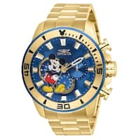 Invicta Men's 27363 'Disney' Mickey Mouse Gold-Tone Stainless Steel Watch