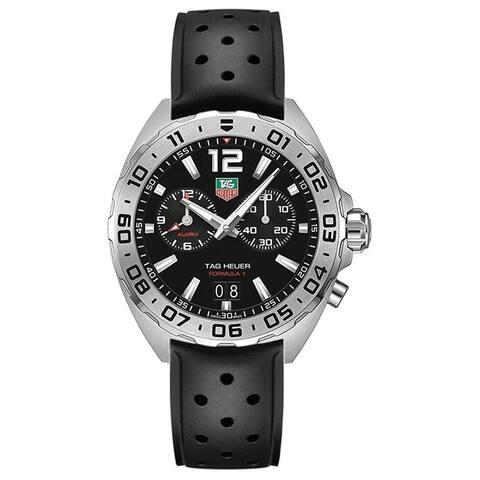 Tag Heuer Men's WAZ111A.FT8023 'Formula 1' Chronograph Black Rubber Watch