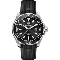 Tag Heuer Men's WAY101A.FT6141 'Aquaracer' Black Rubber Watch