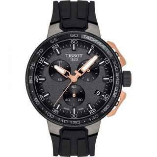 Tissot Men's T1114173744107 'T-Race Cycling' Chronograph Black Rubber Watch