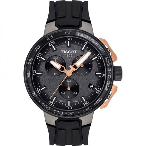 Tissot Men's T1114173744107 'T-Race Cycling' Chronograph Black Rubber Watch