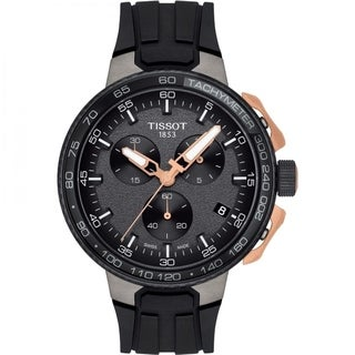 Link to Tissot Men's T1114173744107 'T-Race Cycling' Chronograph Black Rubber Watch Similar Items in Men's Watches