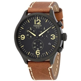 Tissot Men's T1166173605700 'T-Sport XL' Chronograph Brown Leather Watch
