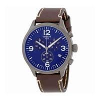 Tissot Men's T1166173604700 'T-Sport' Chronograph Brown Leather Watch