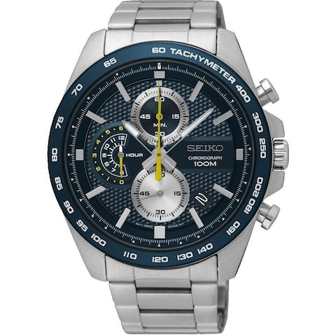Seiko Men's SSB259 Chronograph Stainless Steel Watch