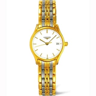 Link to Longines Women's L4.259.2.12.7 'Lyre' Two-Tone Stainless Steel Watch Similar Items in Men's Watches