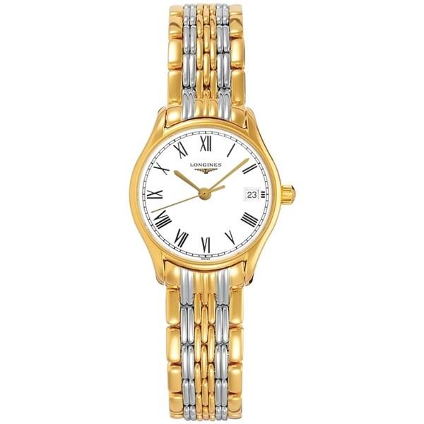 Longines Women's L4.259.2.11.7 'Lyre' Two-Tone Stainless Steel Watch. Opens flyout.