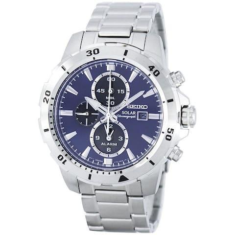 Seiko Men's SSC555 'Solar' Chronograph Stainless Steel Watch
