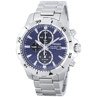 Link to Seiko Men's SSC555 'Solar' Chronograph Stainless Steel Watch Similar Items in Men's Watches