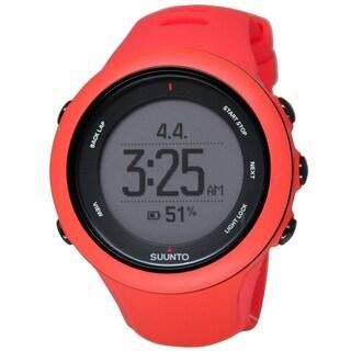 Suunto Women's SS021468000 'Ambit3' Digital Red Silicone Watch