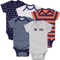 Gerber Boy Variety Onesies Sport - 5 Pack - Newborn