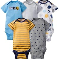 Gerber Baby Boy Onesies Multi-Sports - 5 Pack - 0-3 Months