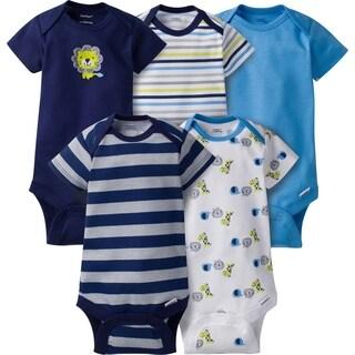 Gerber Baby Boy Onesies Safari - 5 Pack - 6-9 Months