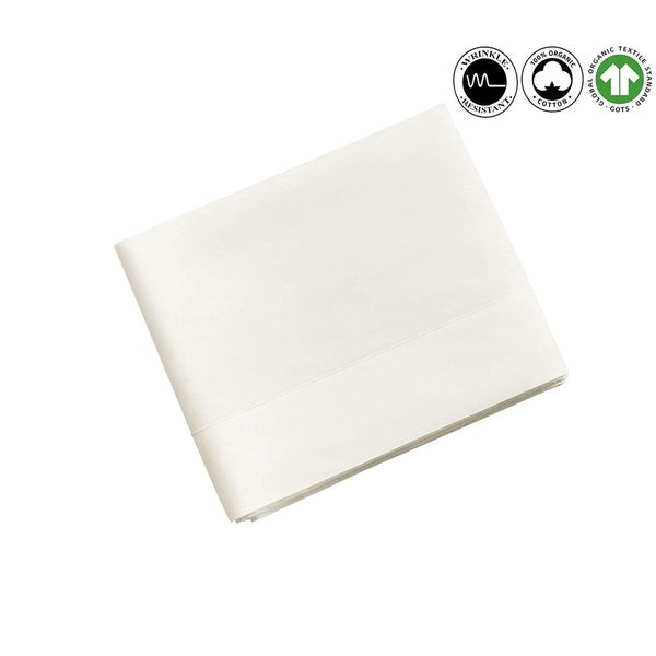 100% Organic Cotton Sateen Wrinkle Resistant Flat Sheets