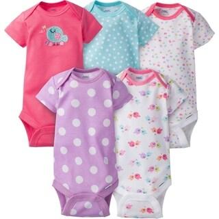 Gerber Baby Girl Onesies Birdie - 5 Pack - 6-9 Months