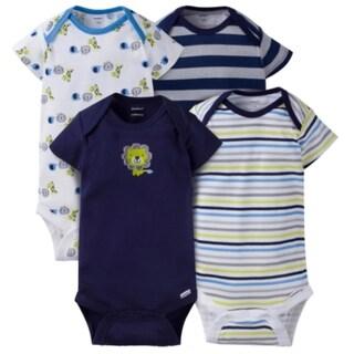 Gerber Baby Boy Onesies Safari - 4 Pack - 24 Months