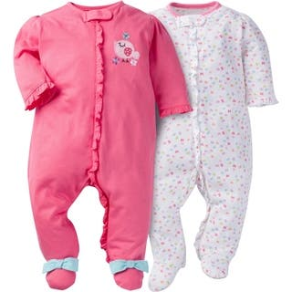 Gerber Zip Front Sleep  n Play Birdie - 2 Pack - Newborn 92edbaec9