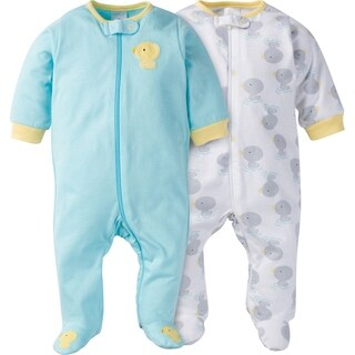 Gerber Zip Front Sleep 'n Play New Duck - 2 Pack - Newborn